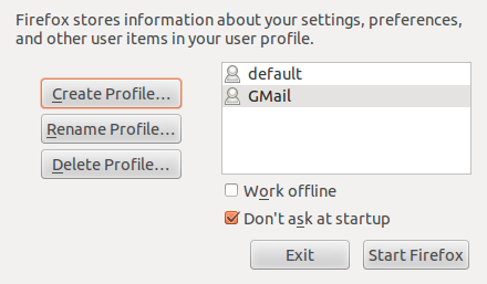 Keeping GMail in a separate browser profile